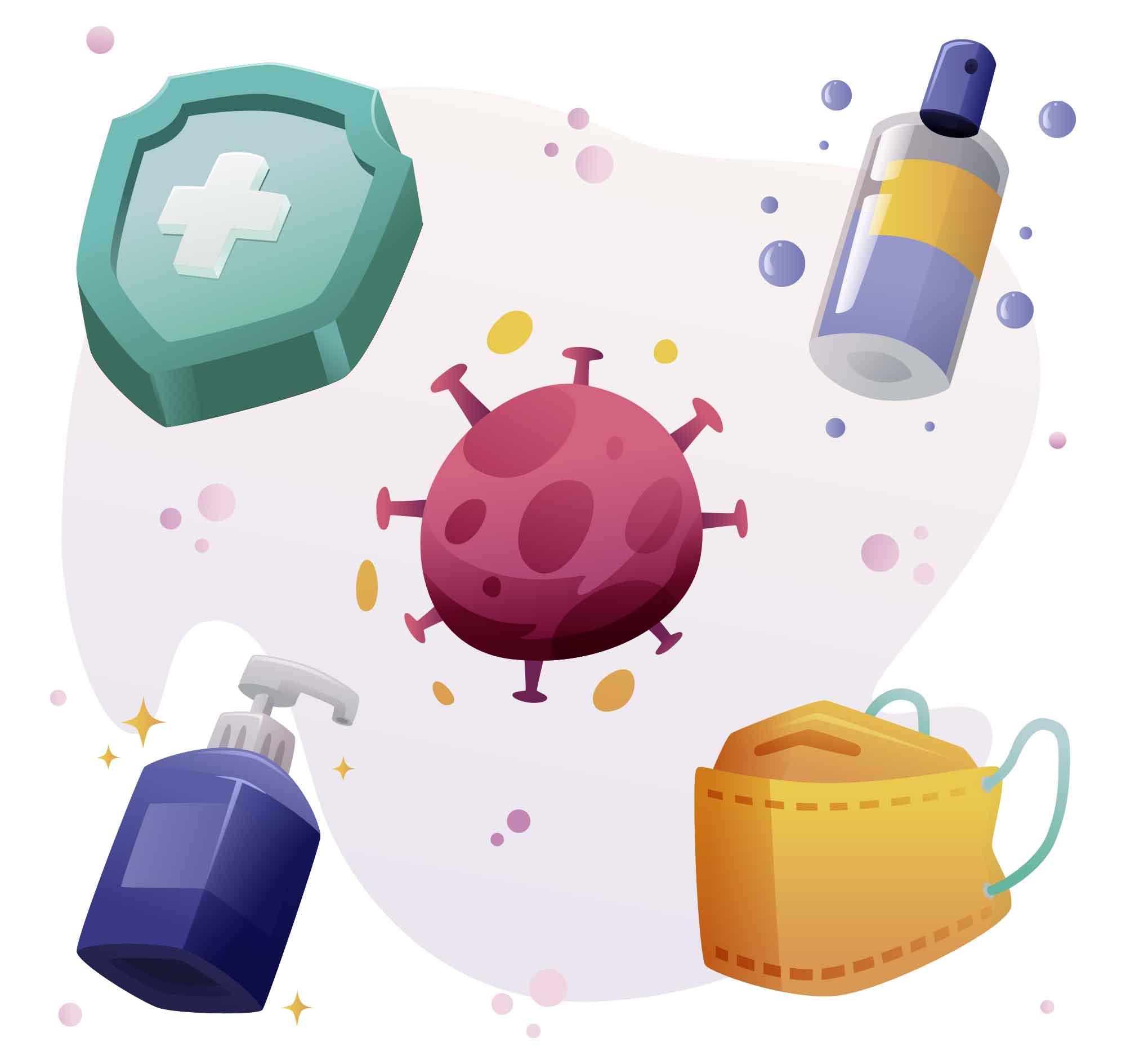 Coronavirus Containment Illustration