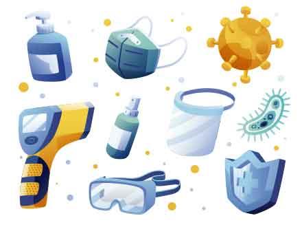 Coronavirus Protective Wear Illustration