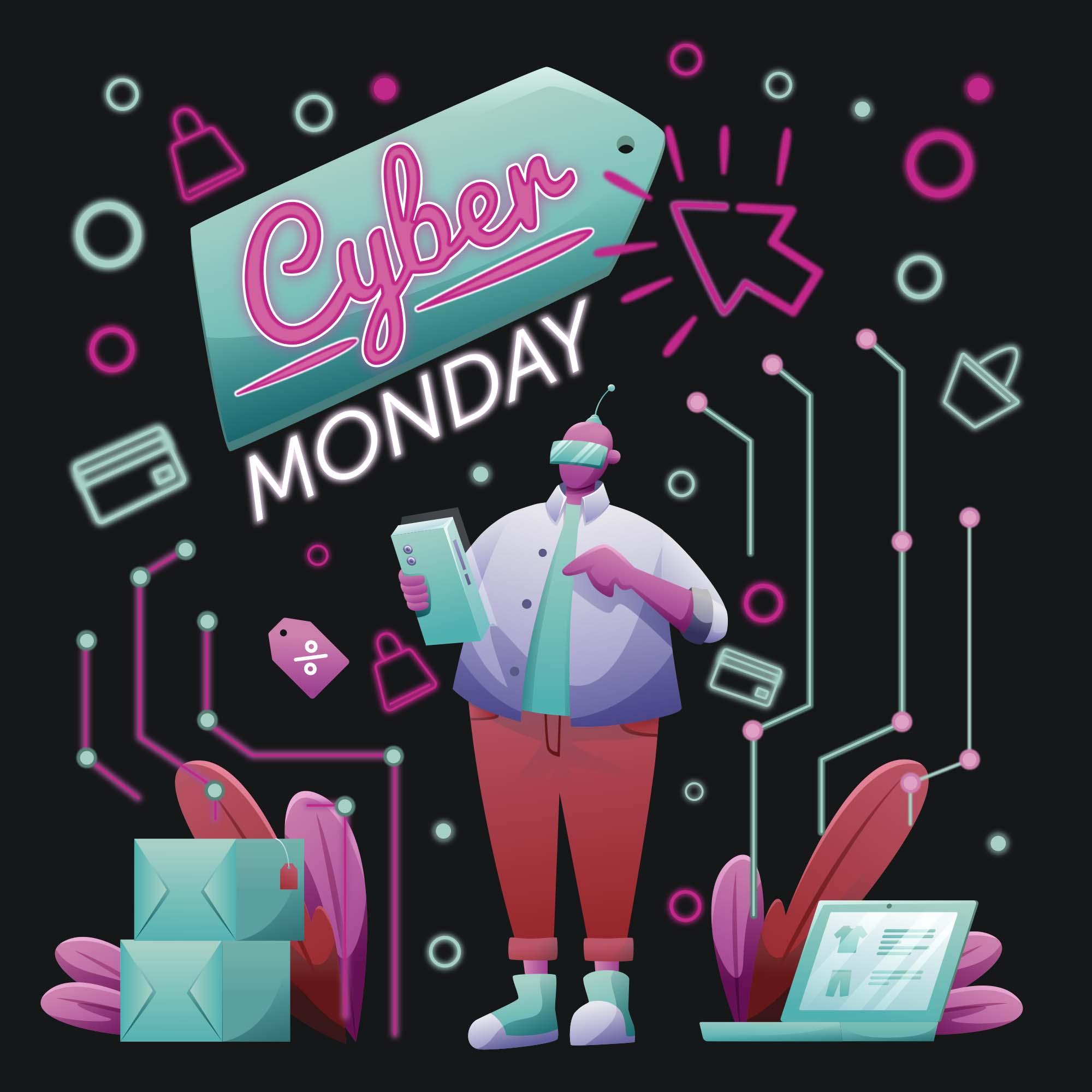 Cyber Monday Illustration