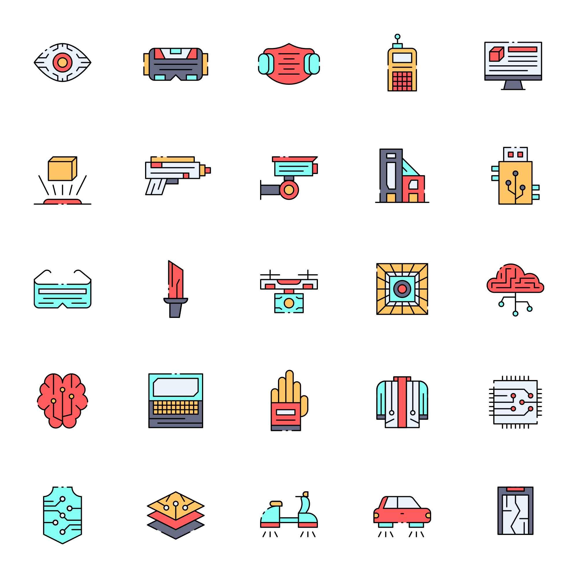 Cyberpunk Vector Icons