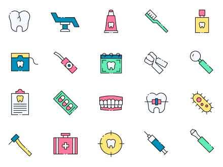 Dentist Vector Icons