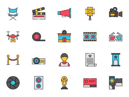 Director Vector Icons