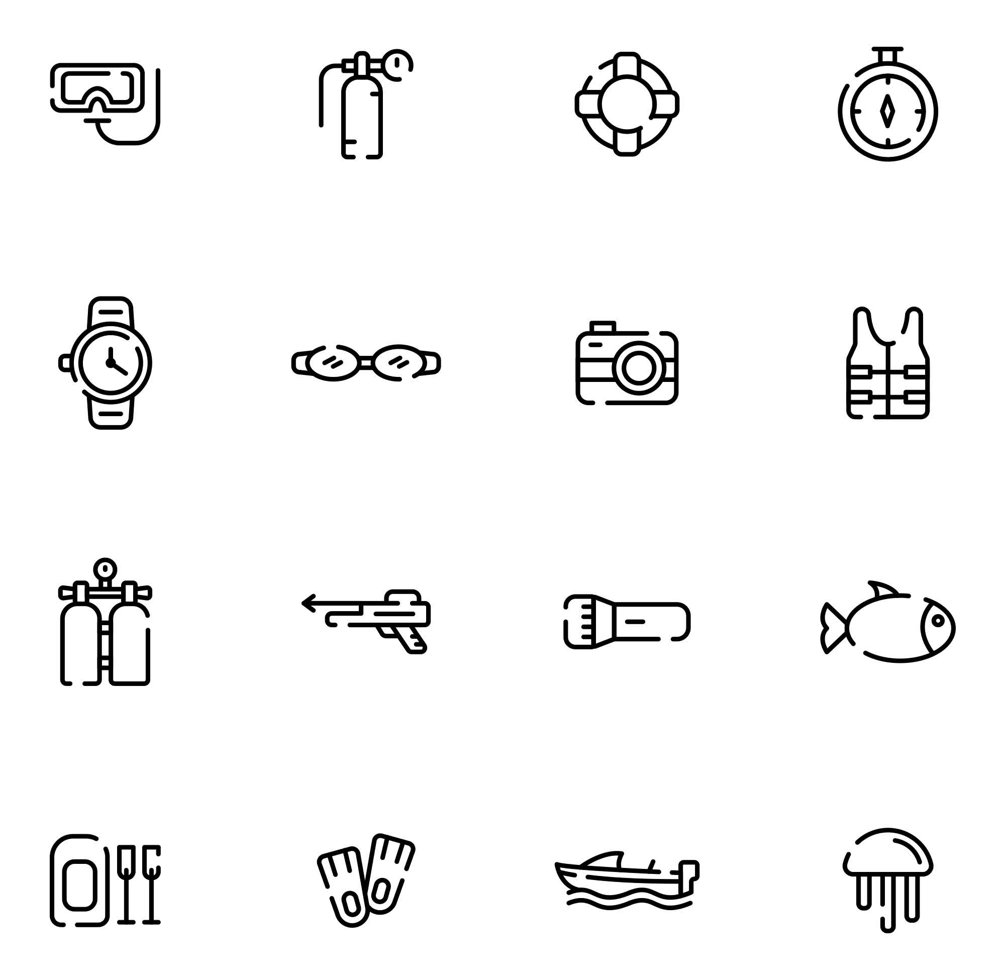 Diving Vector Icons