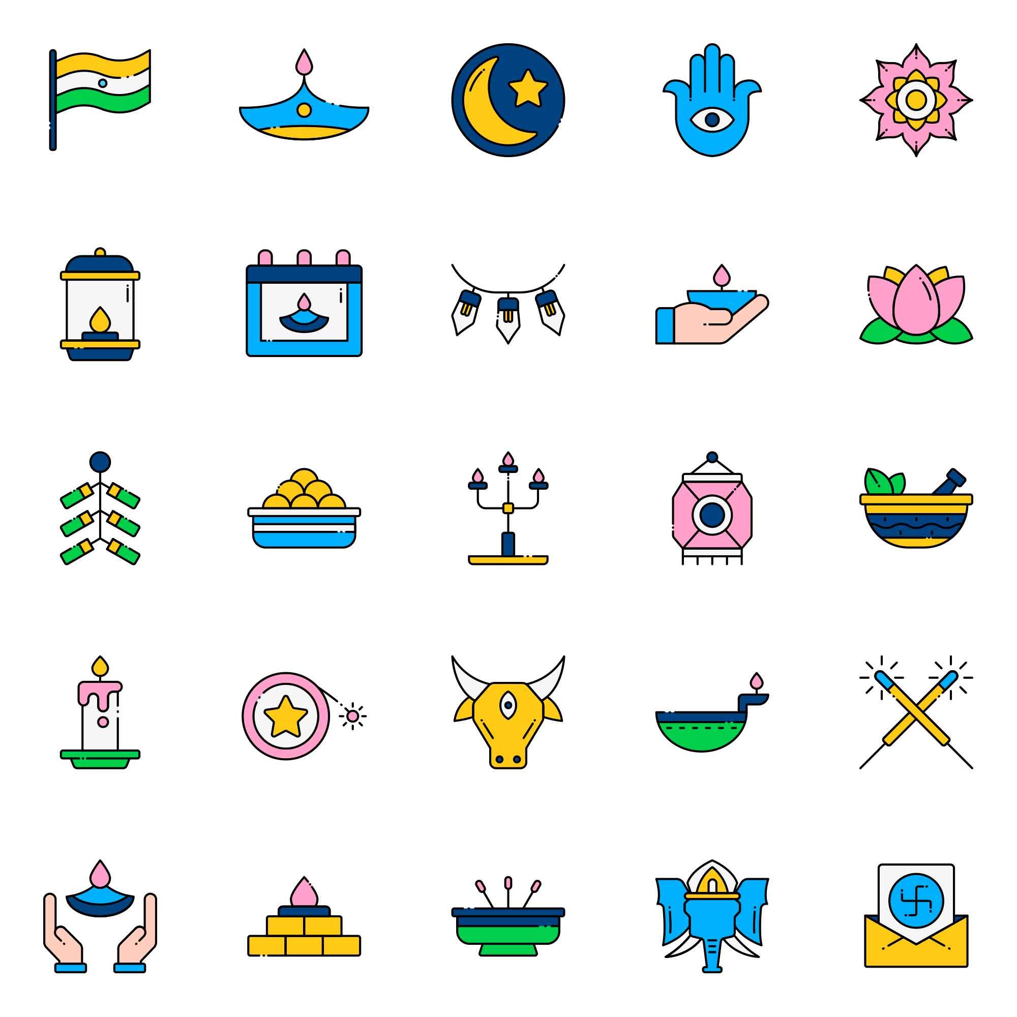 Diwali Vector Icons