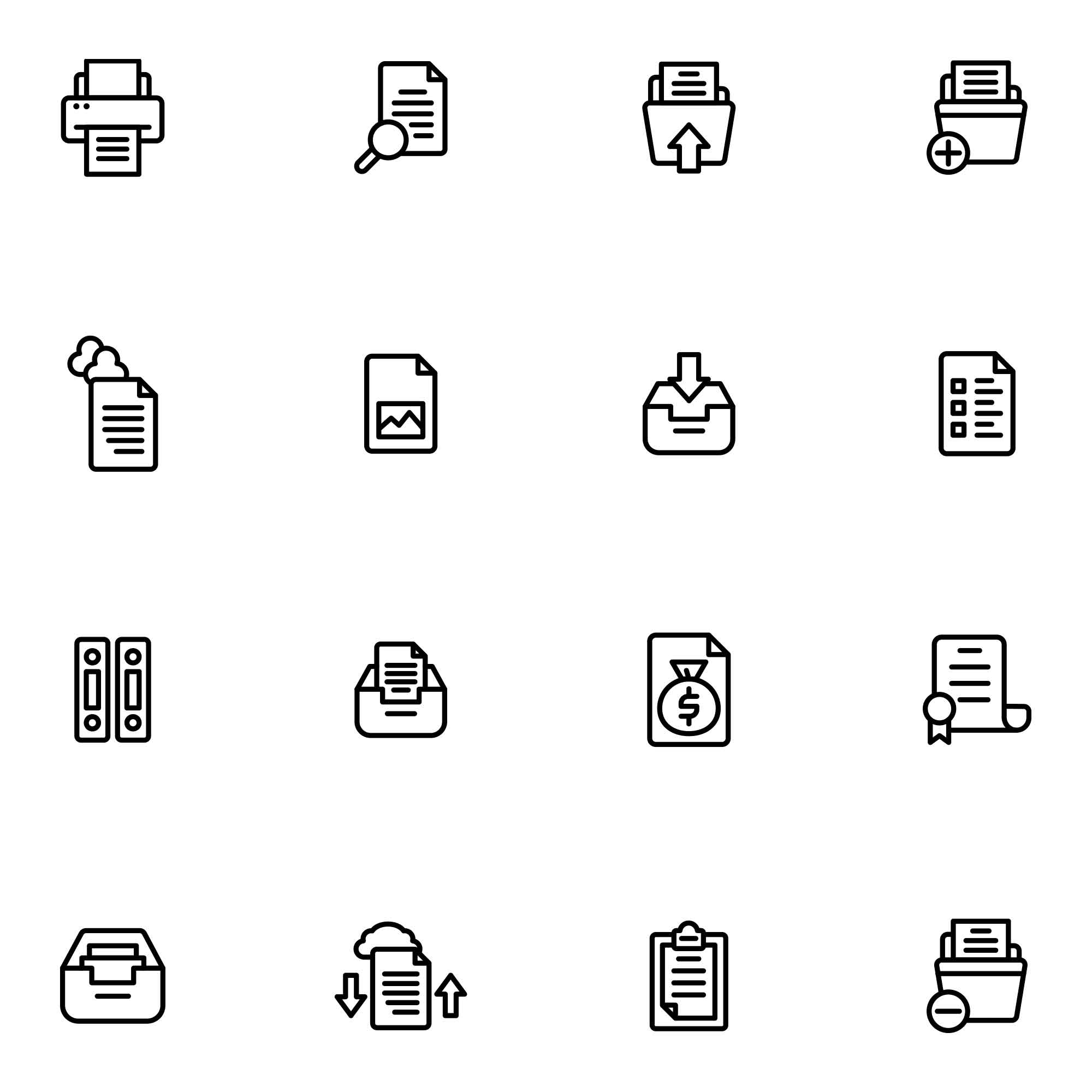 Document Vector Icons