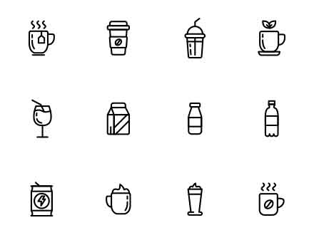 Drinks Vector Icons
