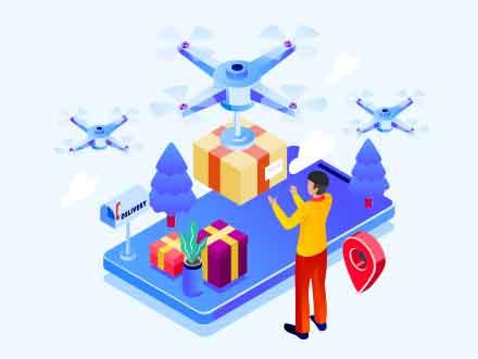 Drone Shipping Illustration