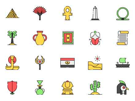 Egypt Vector Icons