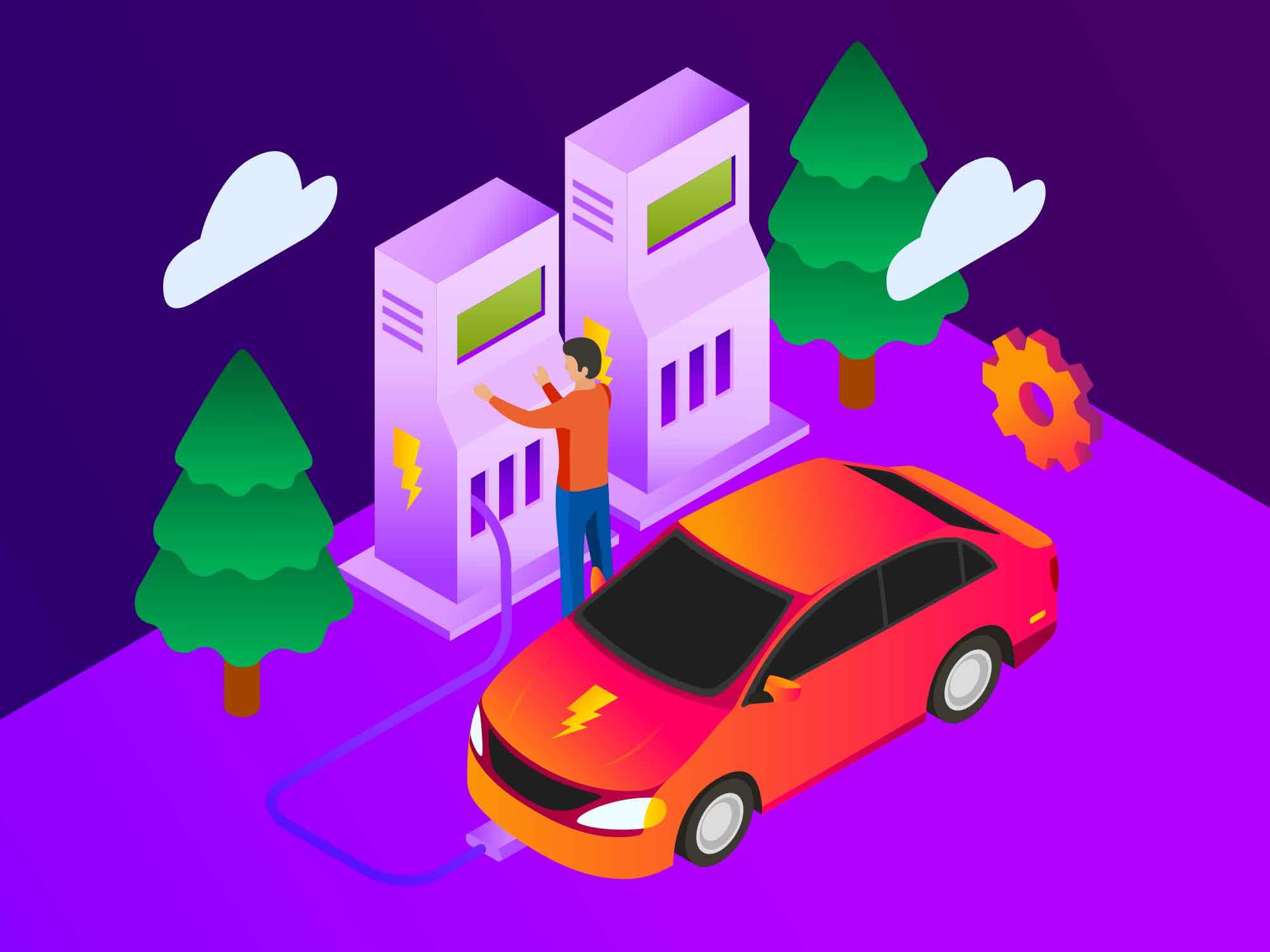 Electric Car Illustration 2