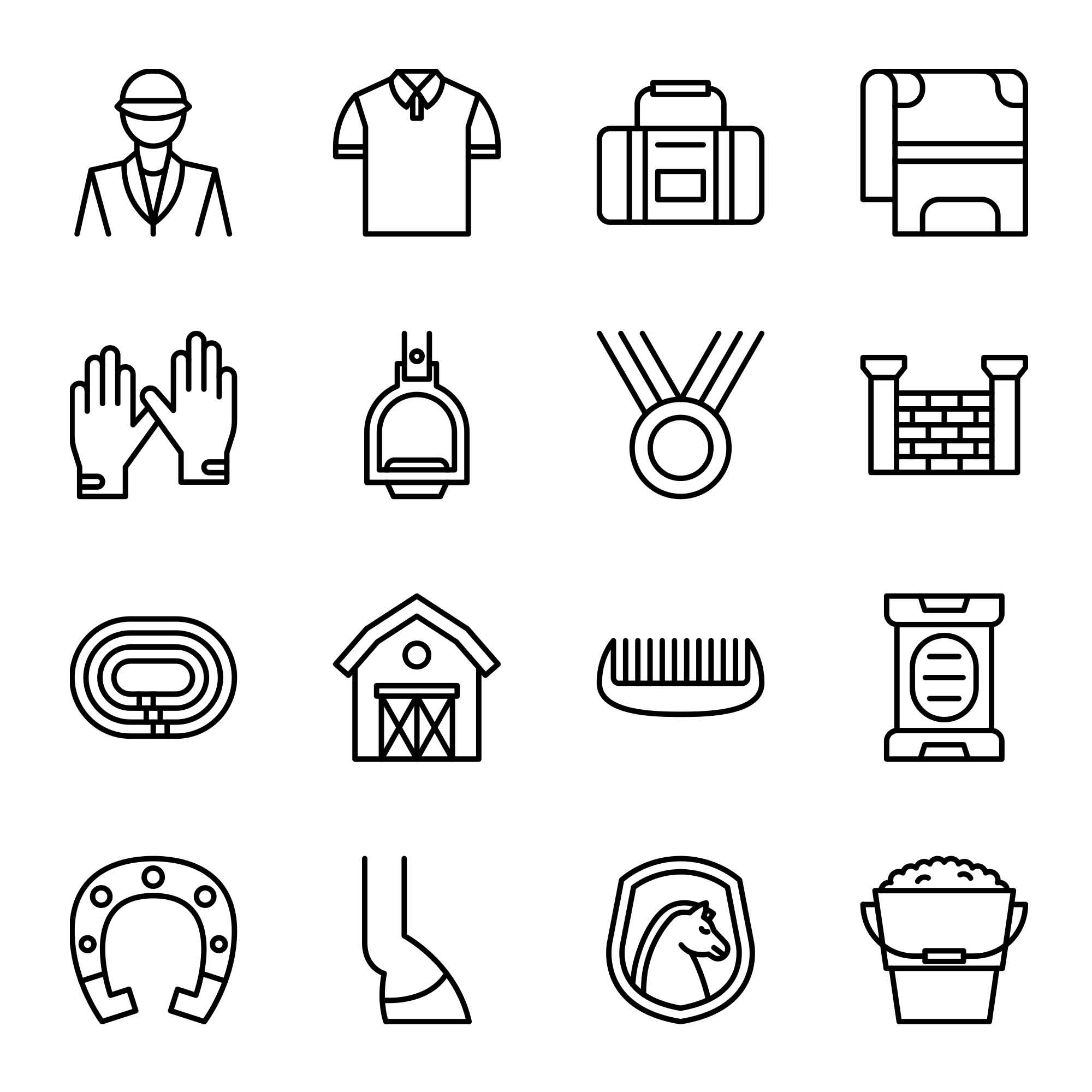 Equestrian Vector Icons Part 2