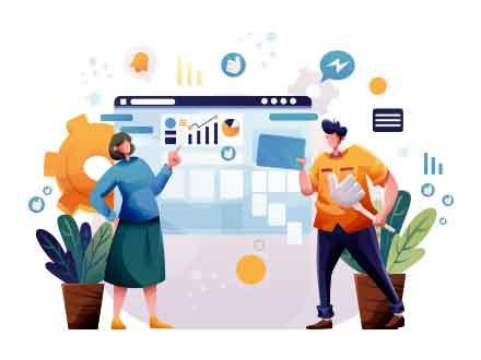 Facebook for Business Illustration