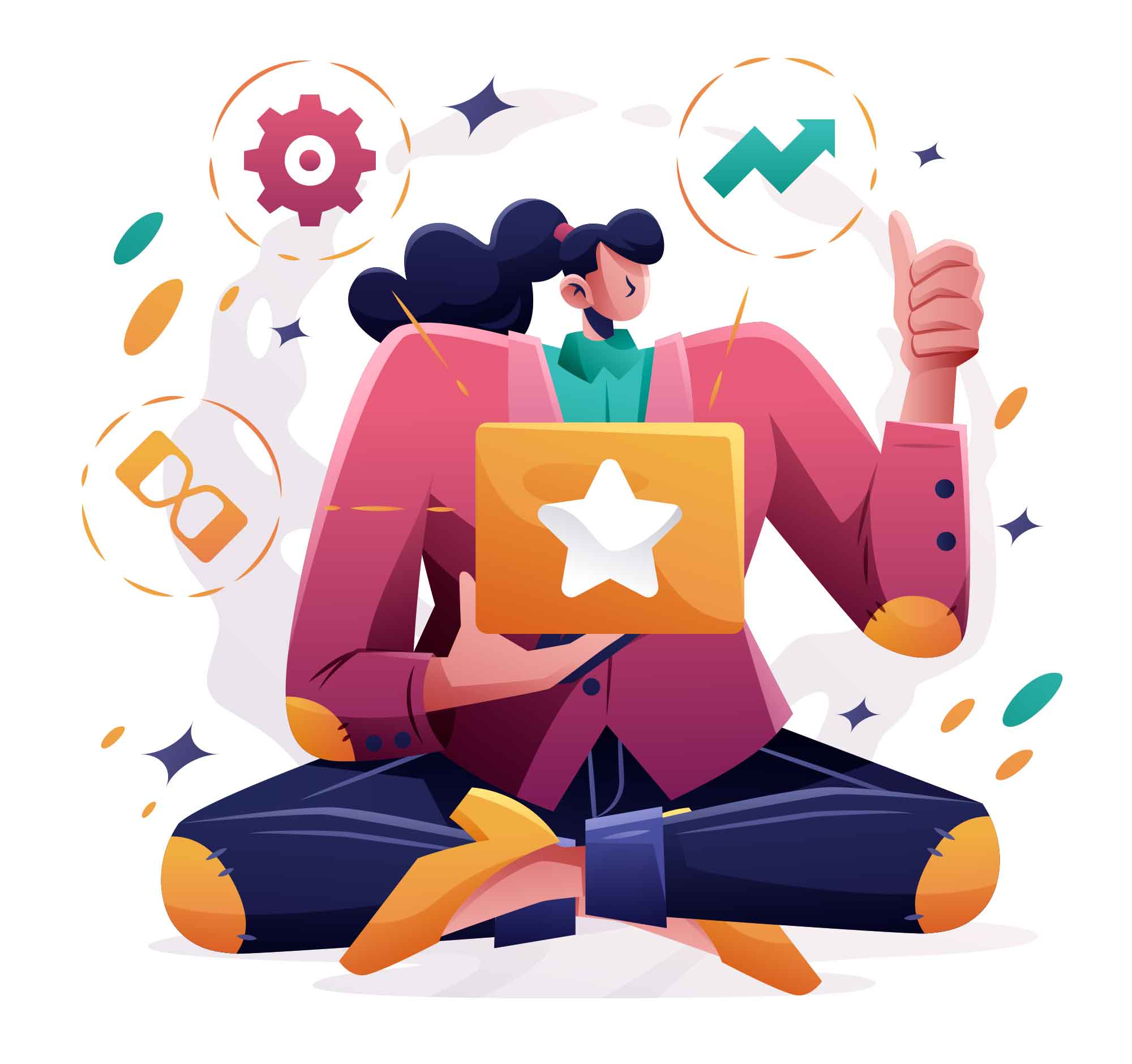 Featured Product Sale Illustration