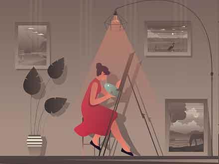 Female Artist Illustration