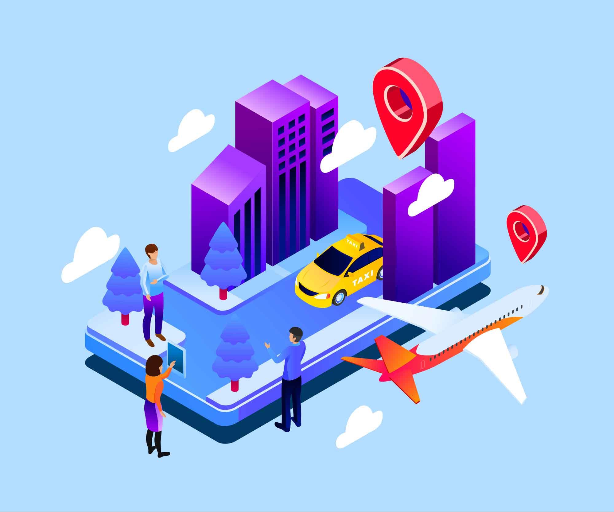 GPS Tracking Illustration