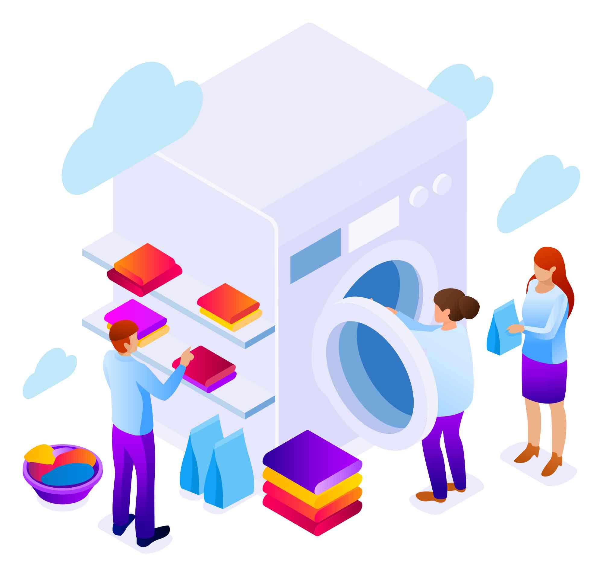 Laundry Vector Illustration