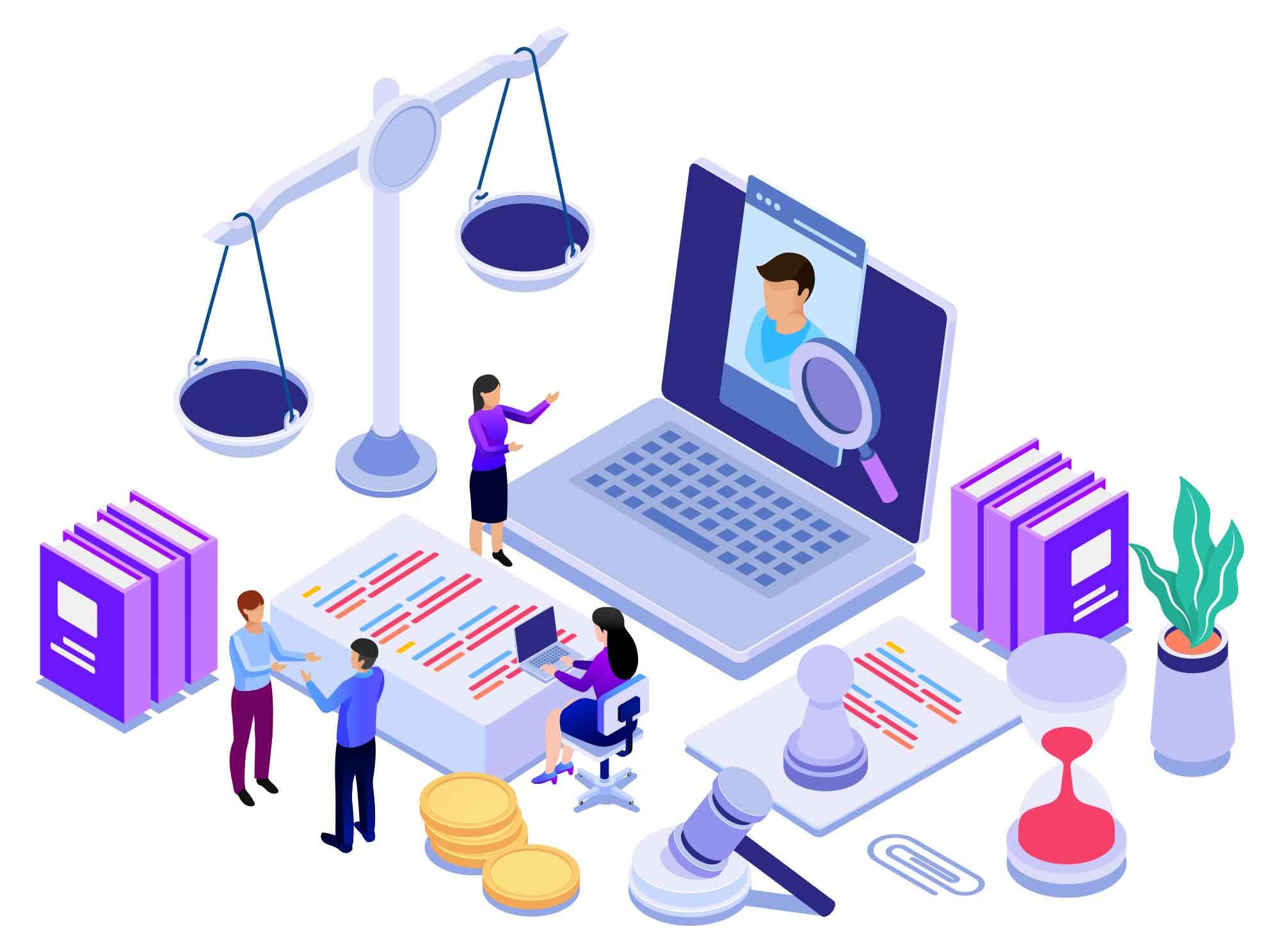 Legal Advice Vector Illustration
