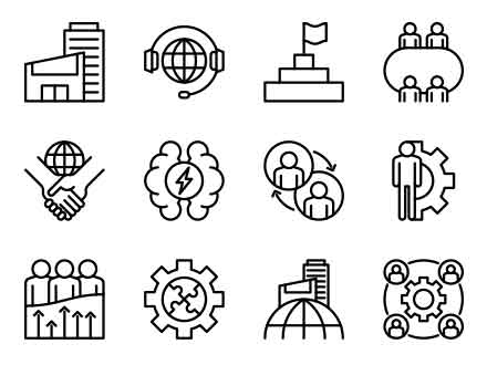 Line Corporate Icons