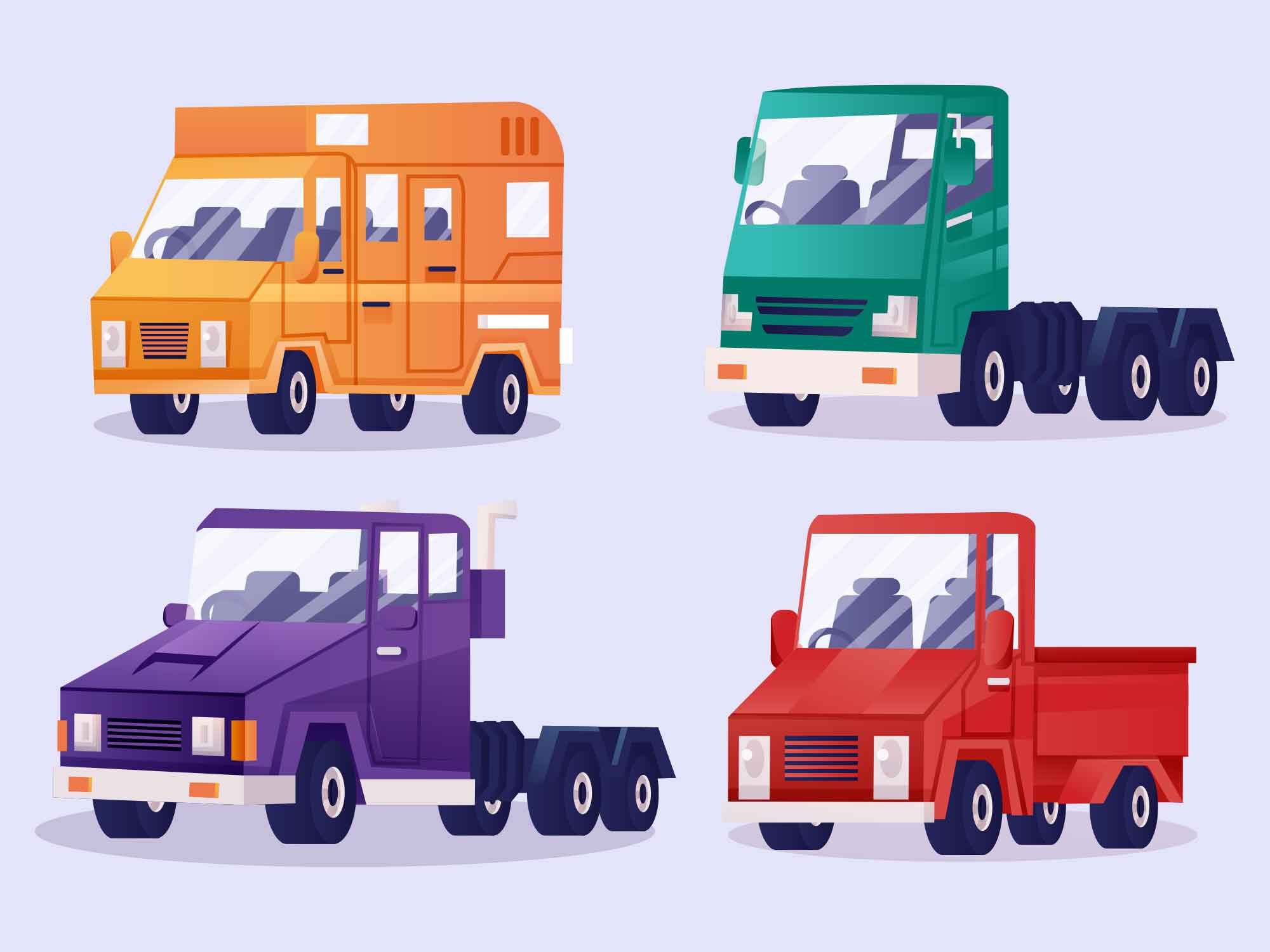 Loading Vehicles Illustration