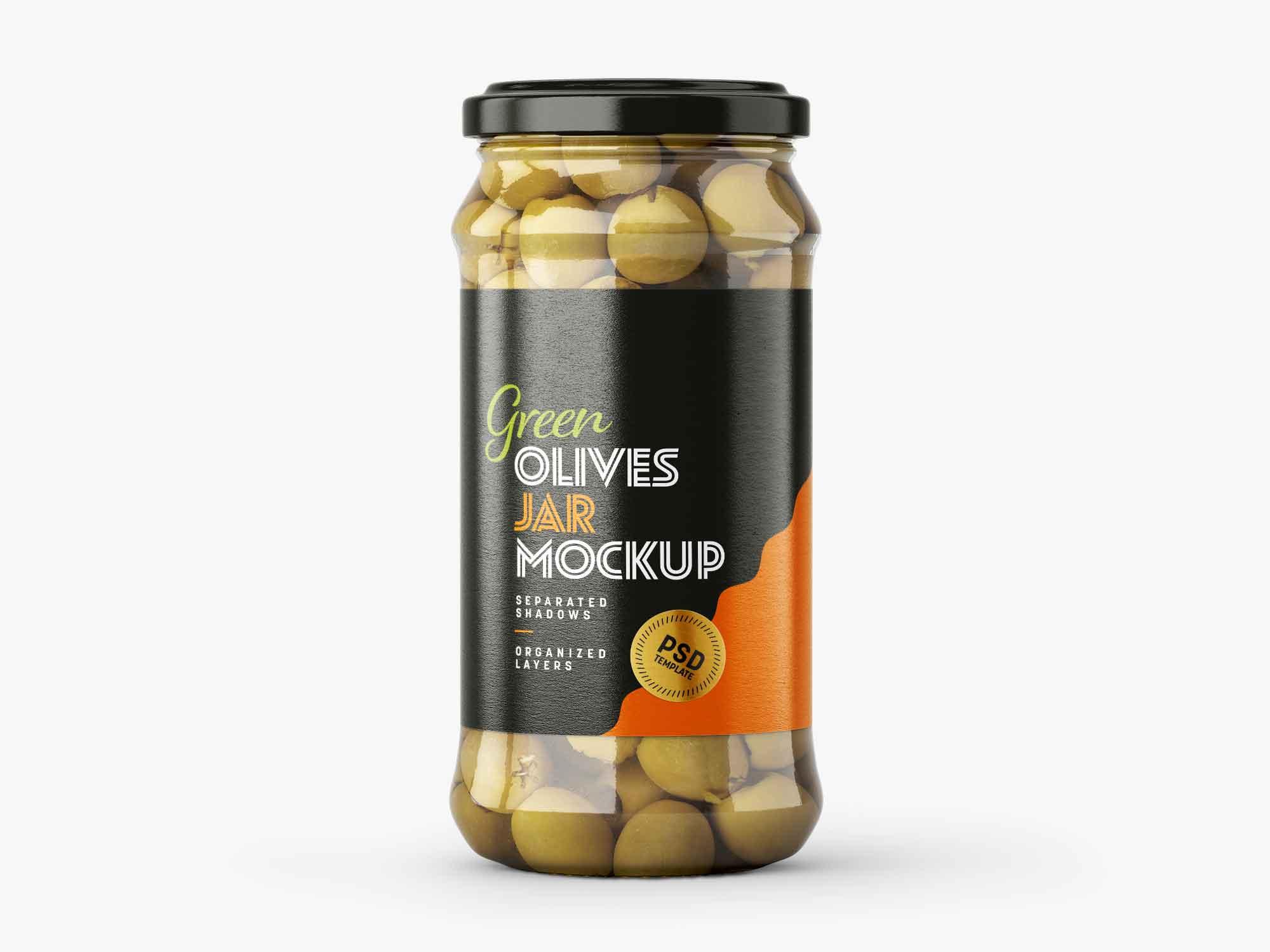 Olives Jar Mockup