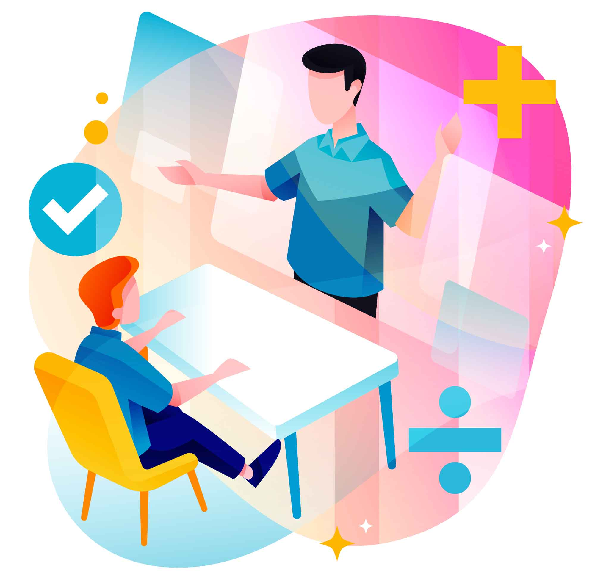 Online Math Course Illustration