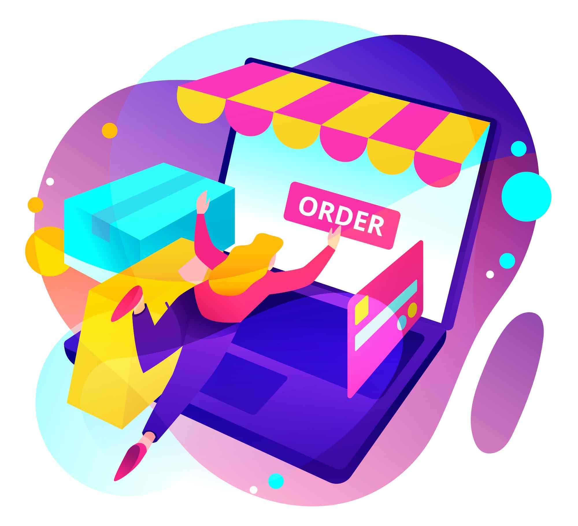 Online Order Illustration