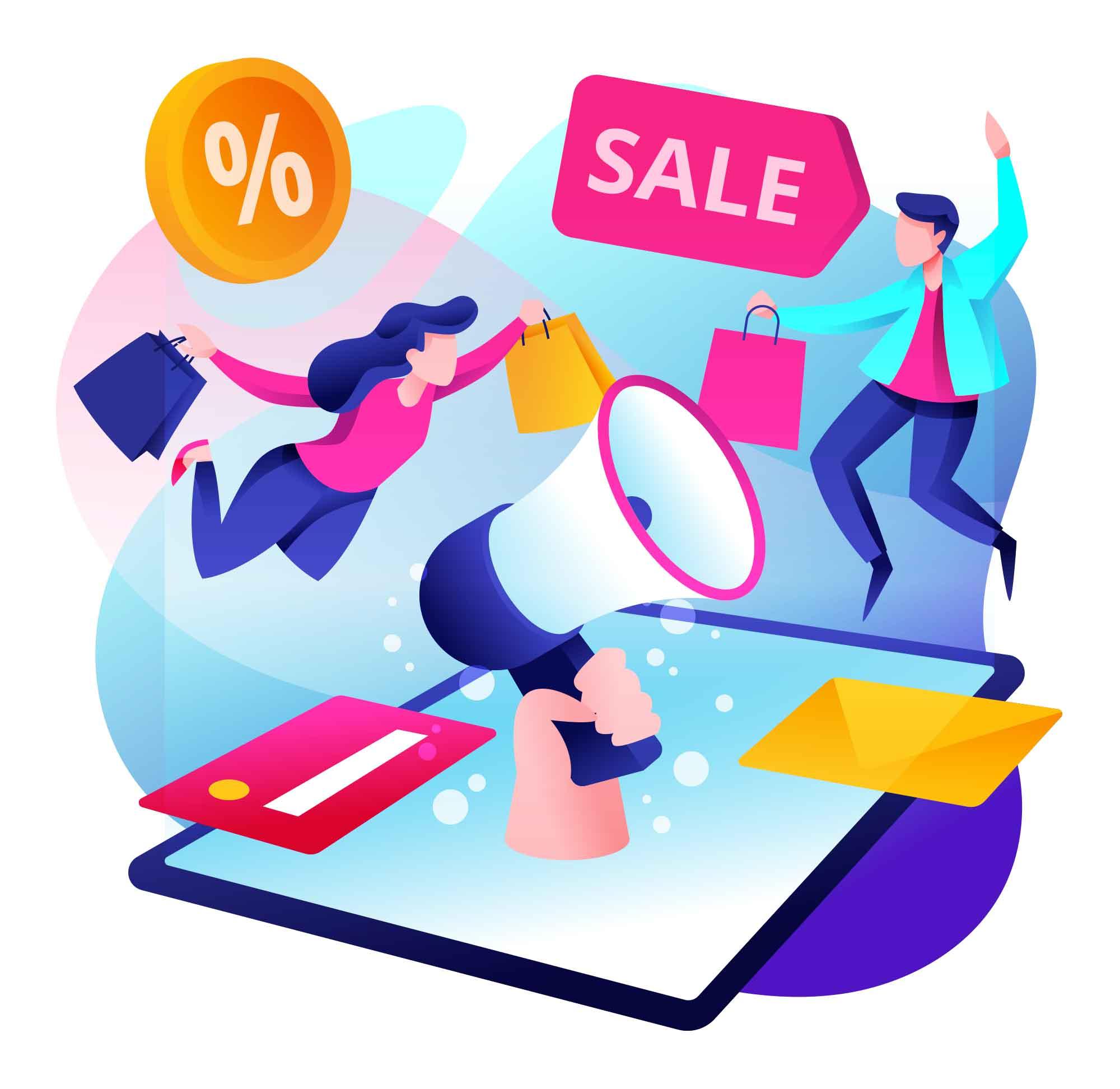 Online Promotion Illustration