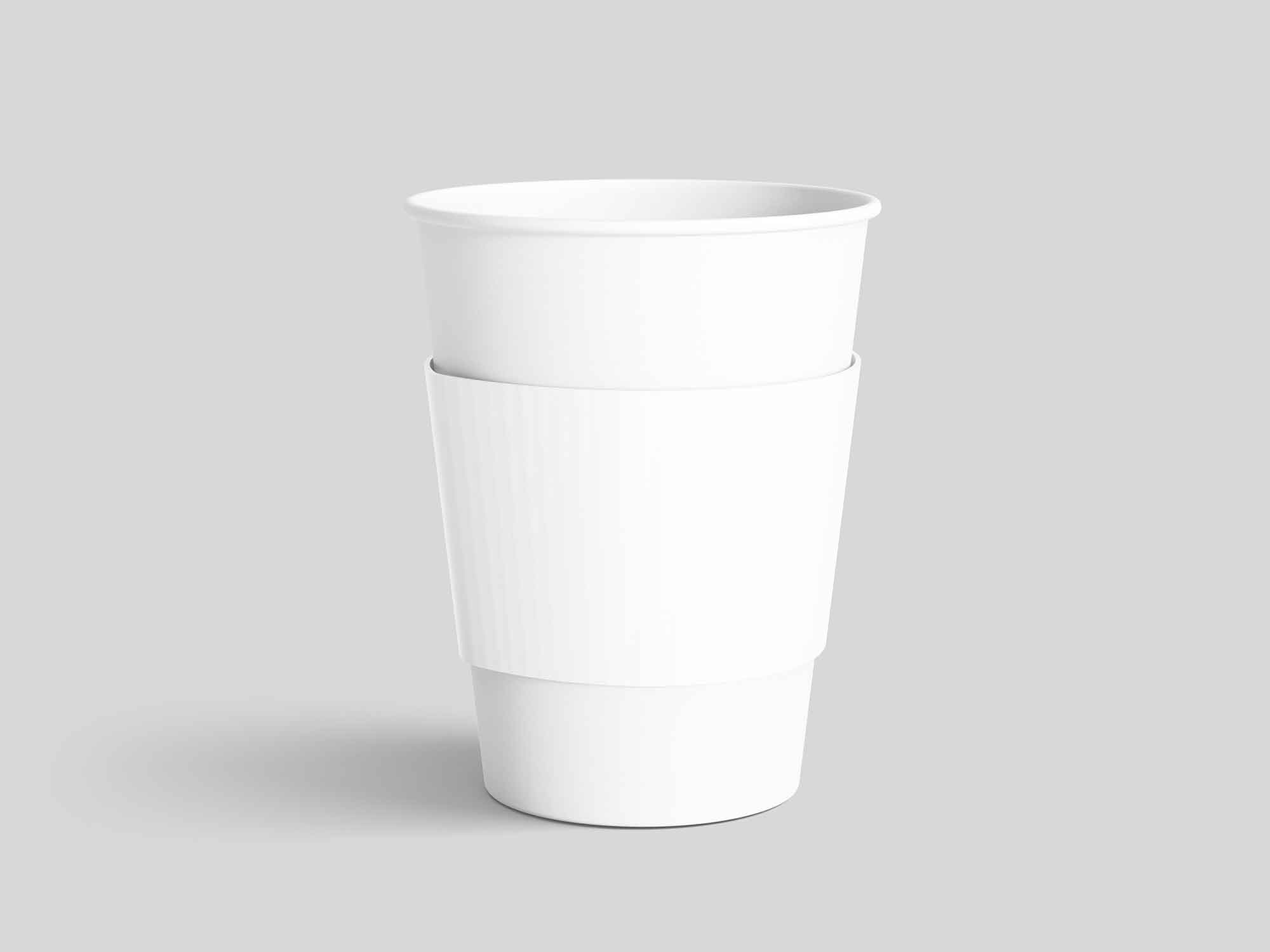 Paper Coffee Cup with Sleeve Mockup 2