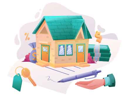 Real Estate Contract Illustration