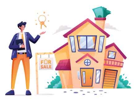 Real Estate Salesman Illustration