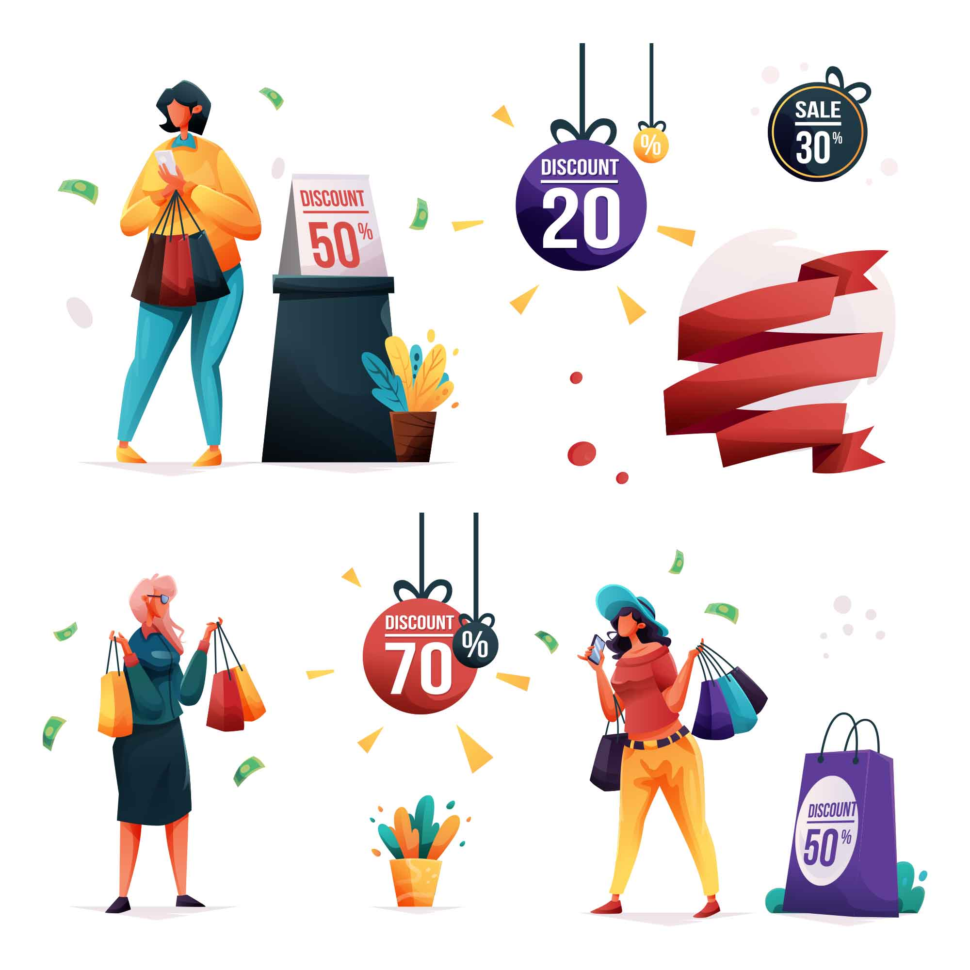 Sales Vector Illustrations
