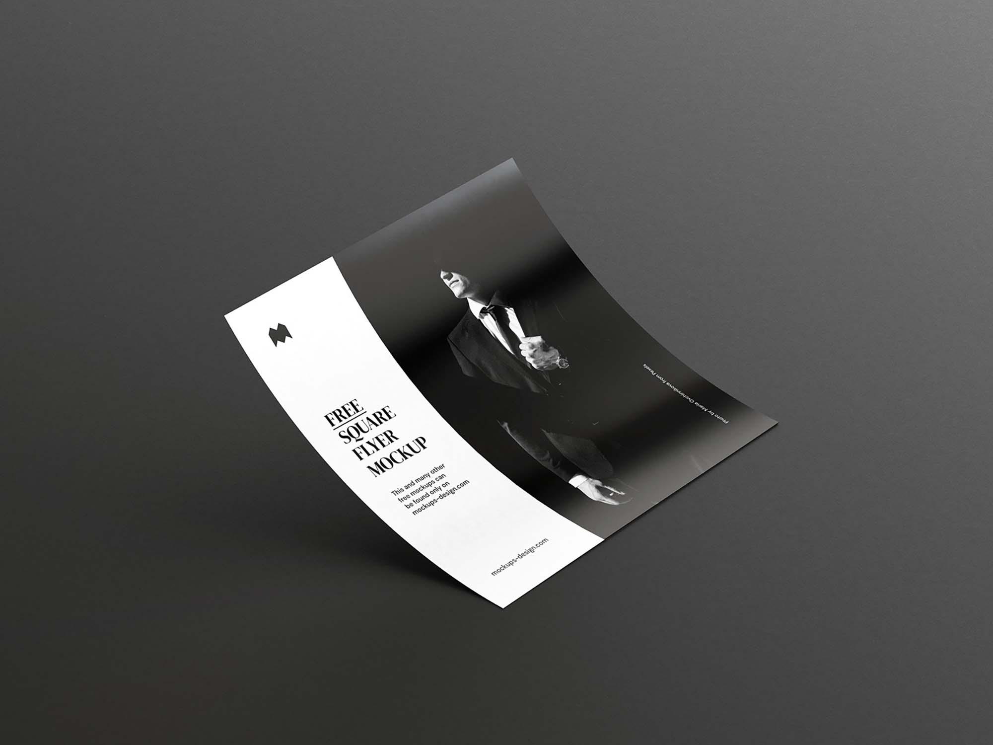 Single Square Flyer Mockup 3