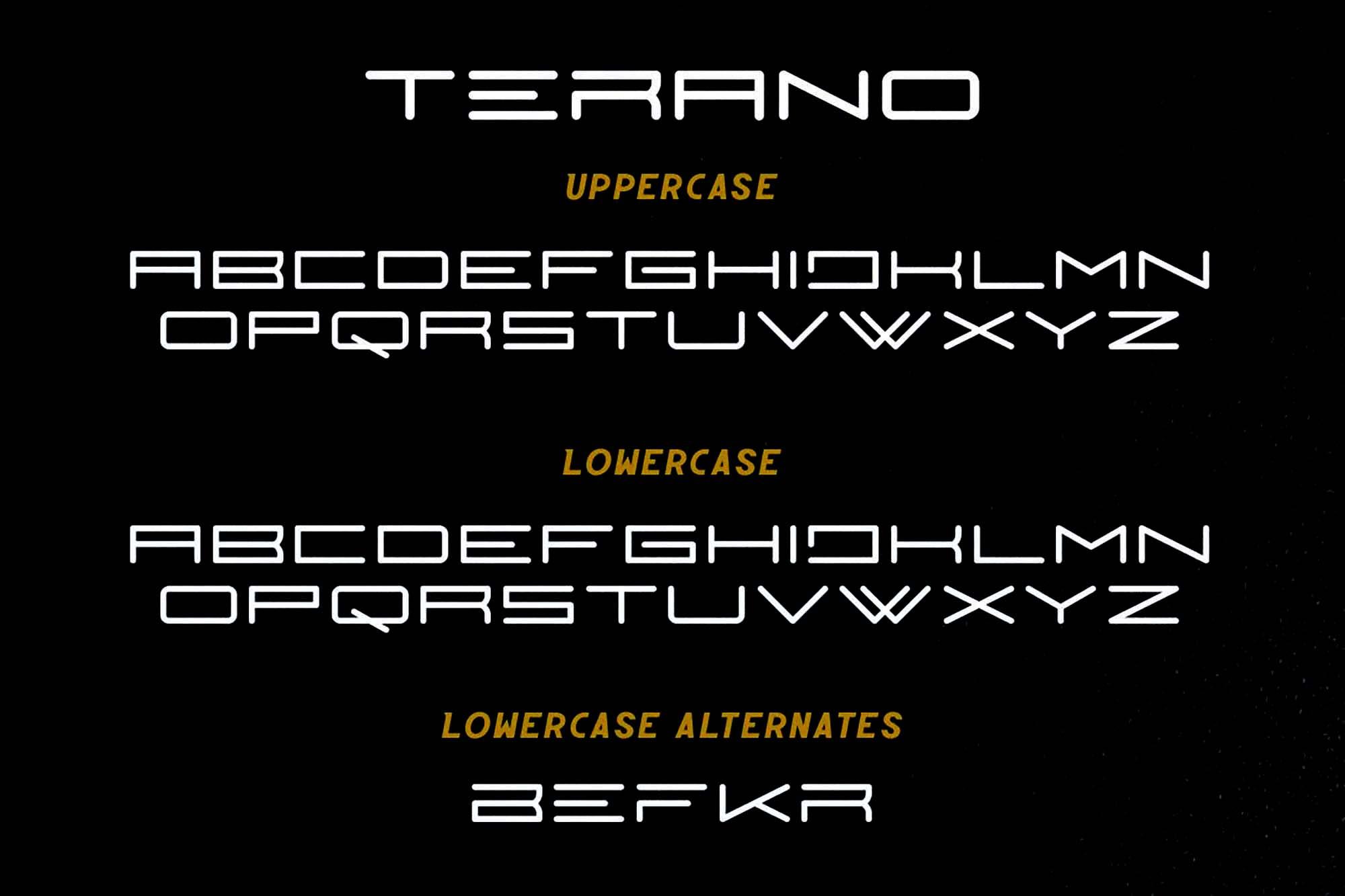 Terano Font 4
