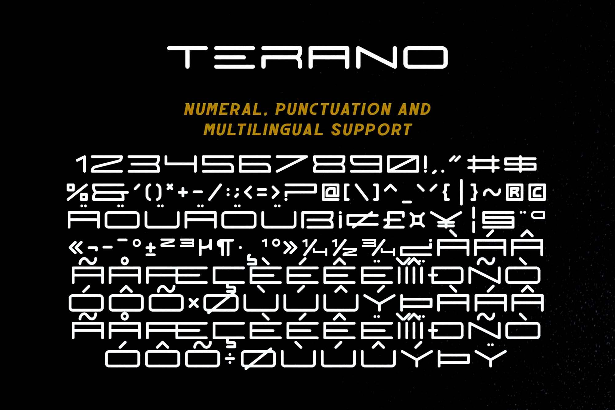 Terano Font 5