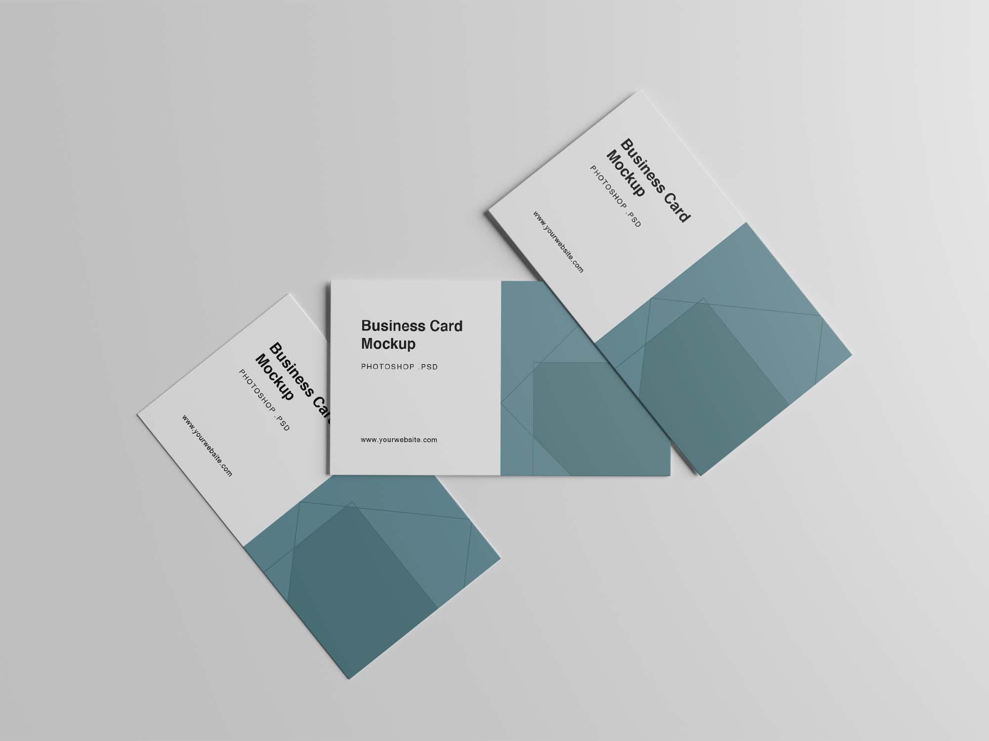 Three Business Card Mockups