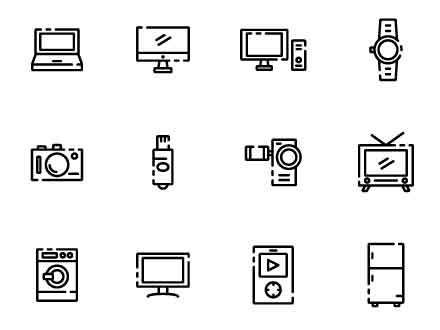 Electronic Gadget Icons
