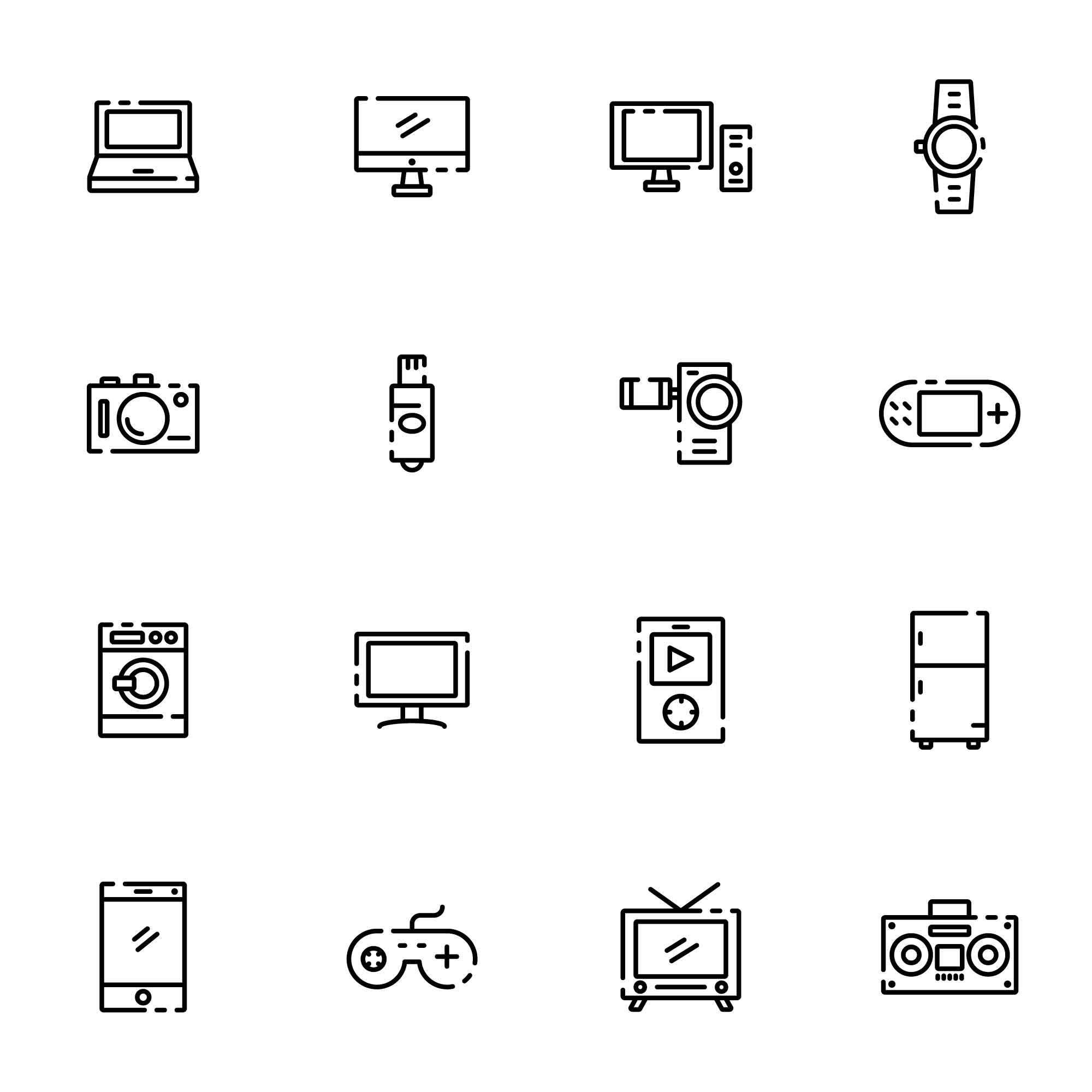 16 Electronic Gadget Icons