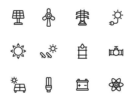 16 Energy Vector Icons