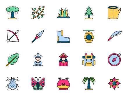 Africa Safari Icons