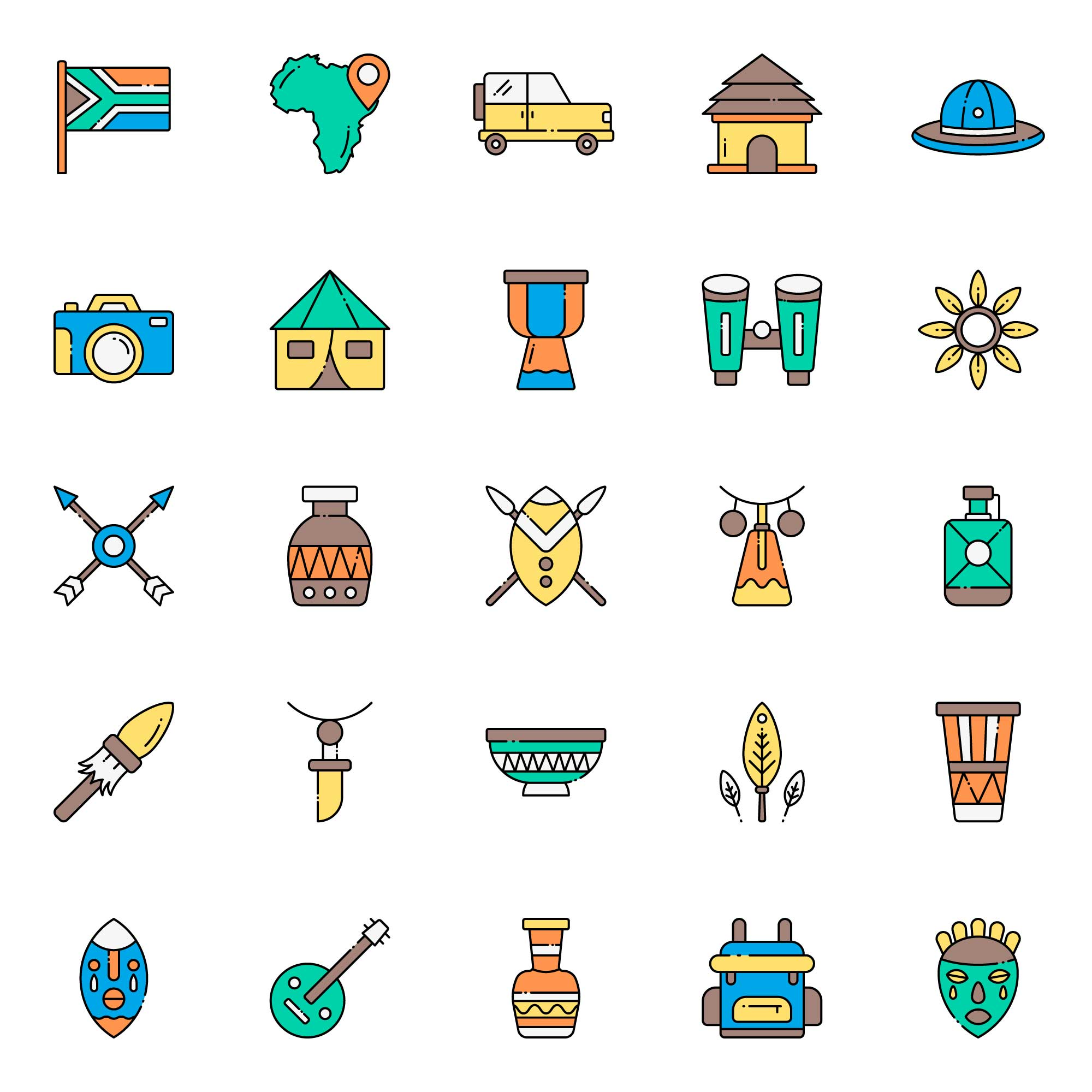 African Safari Icons