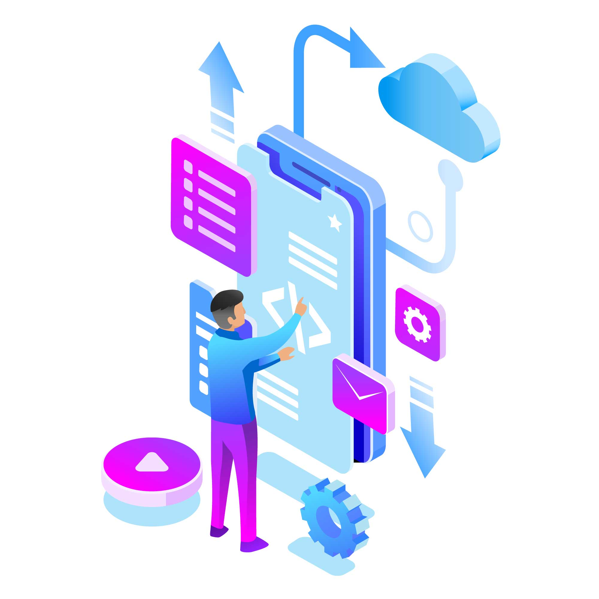 Apps Development Illustration