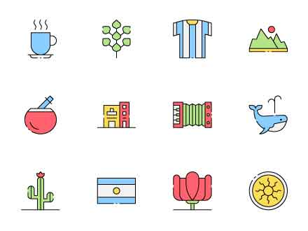 Argentina Vector Icons