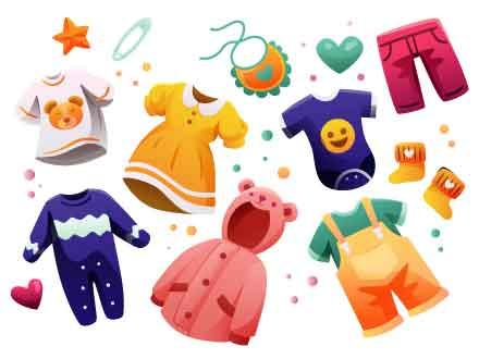 Baby Clothing Illustration