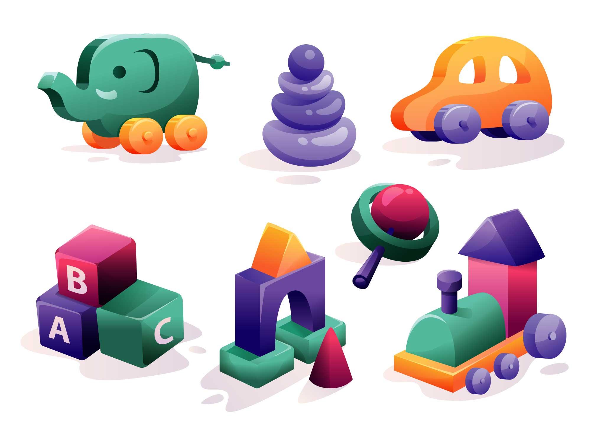 Baby Toys Illustration