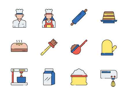 Baker Vector Icons