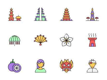 Bali Island Icons