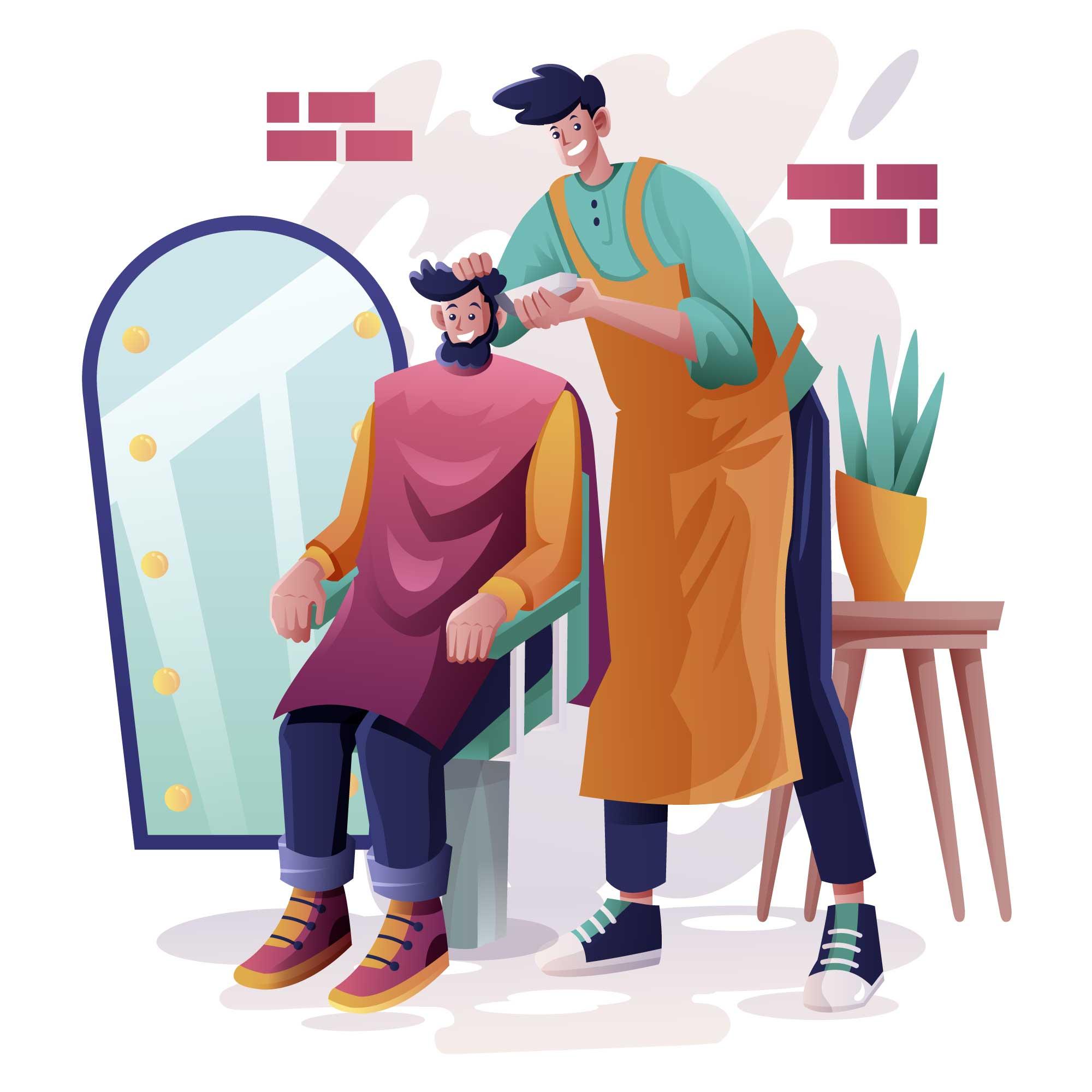 Barber Vector Illustration