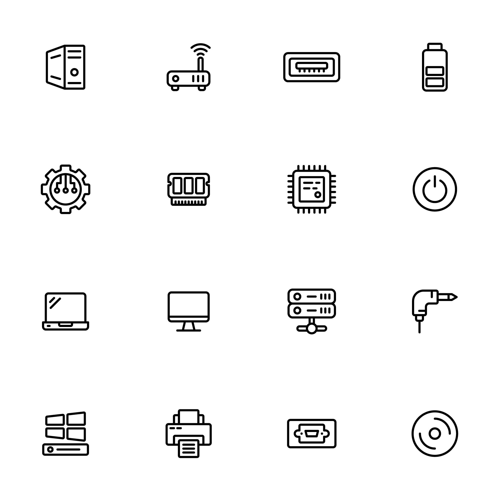 Computer Hardware Icons Part 02