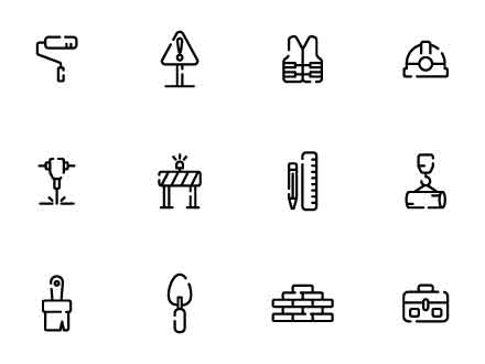 Construction Line Icons
