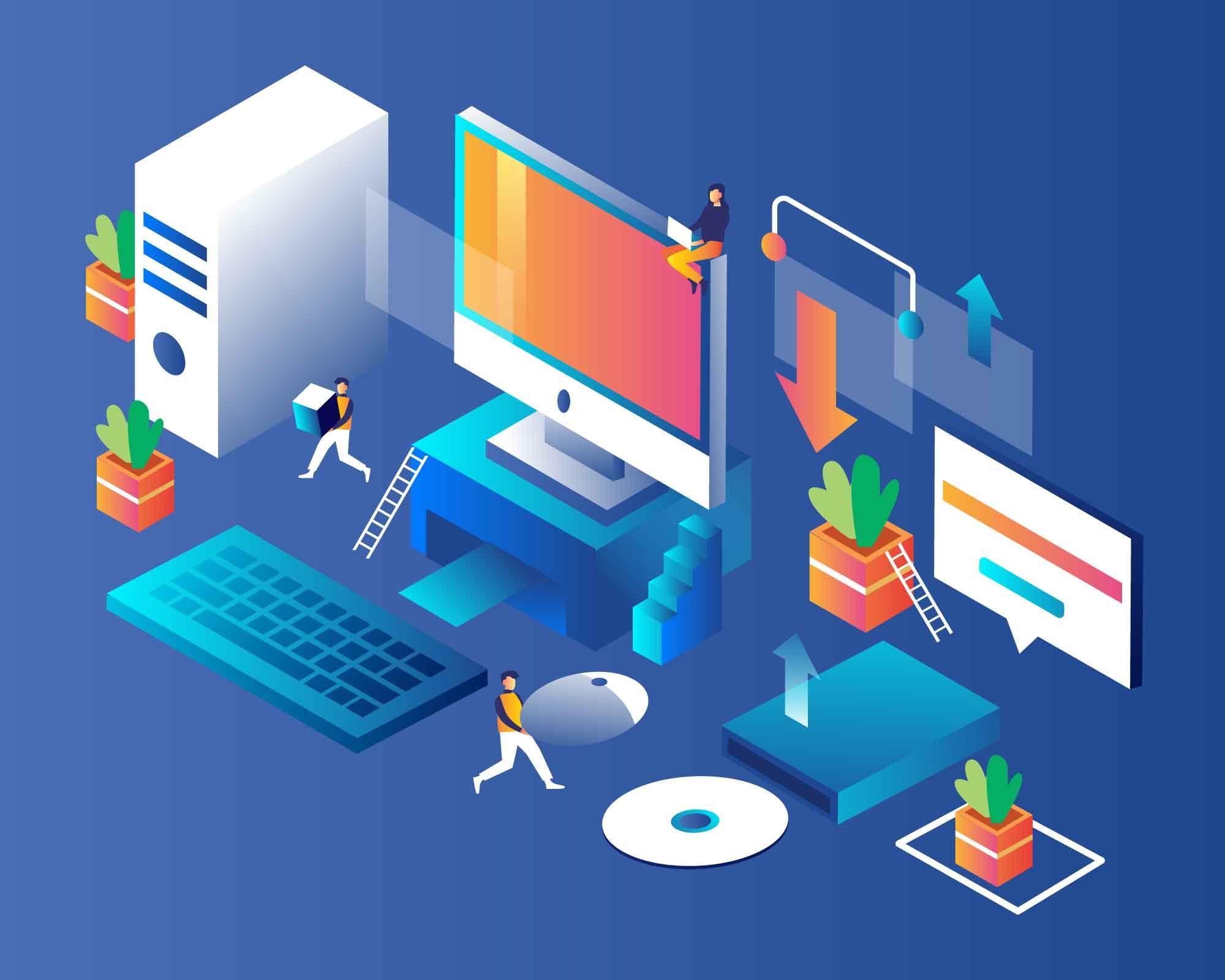 Desktop Vibe Illustration