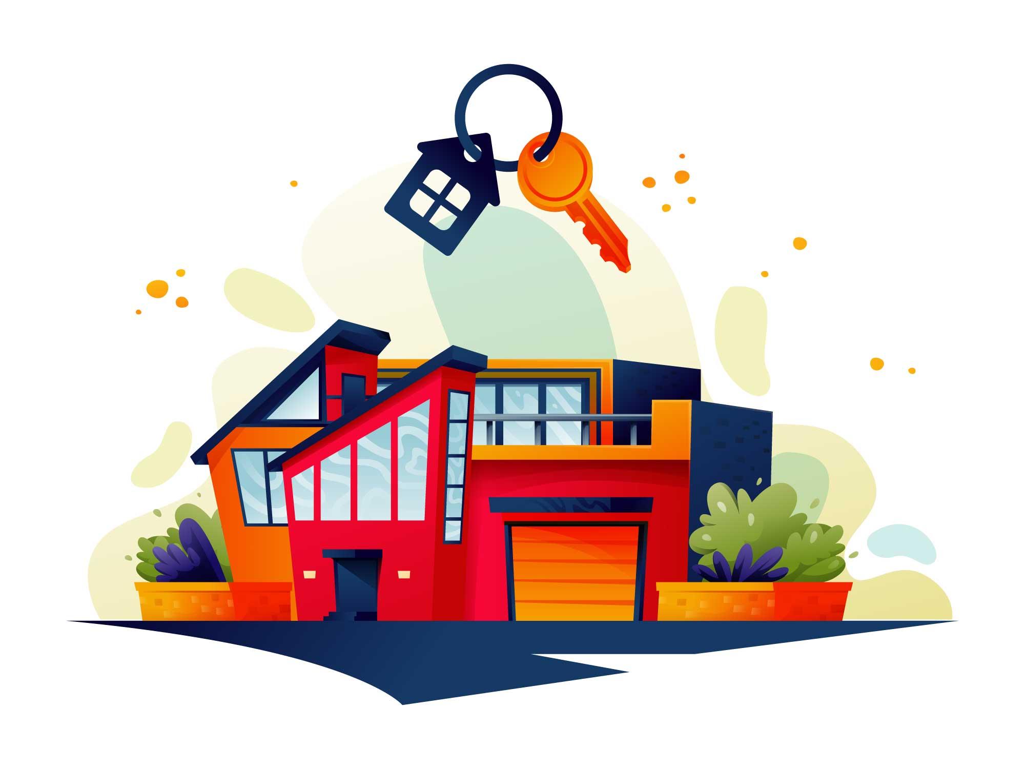 Dream Home Vector Illustration